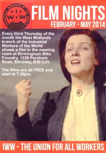 I.W.W Film Nights - Rosa Luxemburg (1986) @ Birmingham Bike Foundry | Birmingham | England | United Kingdom
