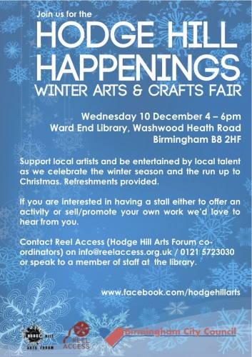 Hodge Hill Happenings Winter Arts and Craft Fair @ Ward End Library | Birmingham | United Kingdom